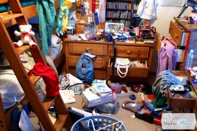 Messy Bedroom - Residential Cleaning Service in Kernersville and Greensboro
