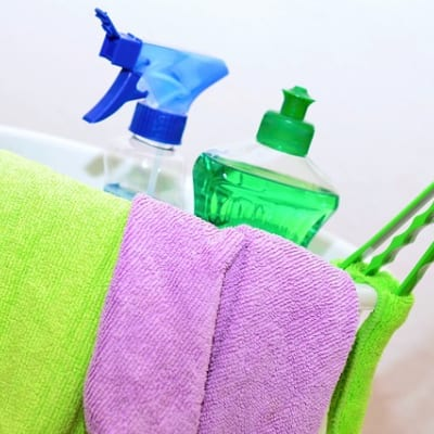 Cleaning Bottles - Maid Cleaning Company in Greensboro NC